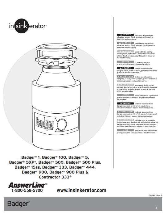 InSinkErator Badger 5 installation instructions