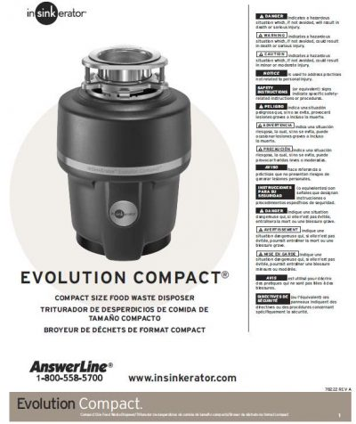 InSinkErator Evolution Compact installation instructions