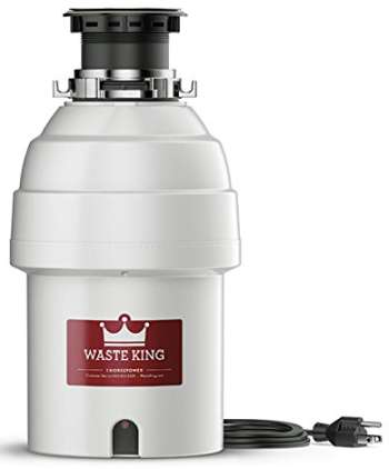 Waste King Legend Series 1 HP Garbage Disposal with Power Cord L-8000