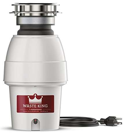 Waste King Legend Series Garbage Disposal with Power Cord 9930
