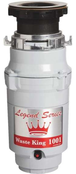 Waste King Legend Series Garbage Disposal with Power Cord - L-1001